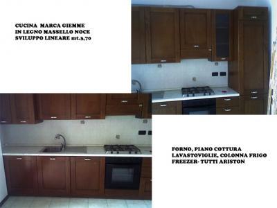 Cucina in legno massello noce marca giemme completa di elettrodomestici bologna emilia - Cucina completa subito it ...