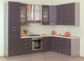 Cucina moderna angolare l301x196 nuova scelta finiture for Cucina 2 metri ikea